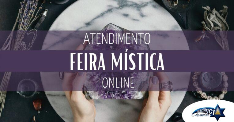 Feira Mística Online – Equipe Consciência Cósmica – Atendimentos Online – Zoom
